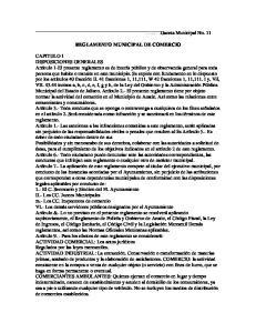 REGLAMENTO MUNICIPAL DE COMERCIO
