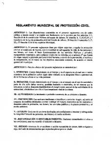 REGLAMENTO MUNICIPAL DE PROTECCION CIVIL
