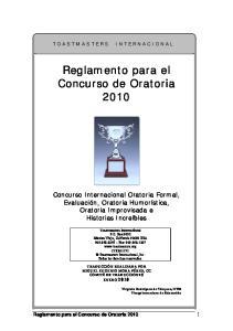Reglamento para el Concurso de Oratoria 2010