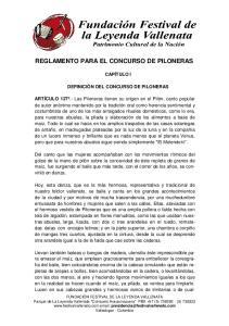 REGLAMENTO PARA EL CONCURSO DE PILONERAS