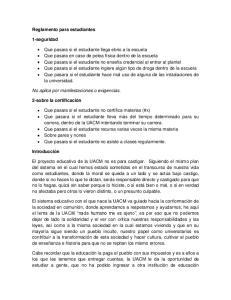 Reglamento para estudiantes. 1-seguridad
