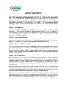 REGLAMENTO PROMOCION MEGA CRUCEROS DE NAVIDAD