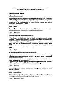 REGLAMENTO REGULADOR DEL PUNTO LIMPIO DEL EXCMO. AYUNTAMIENTO DE ALMADEN (CIUDAD REAL)