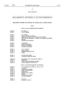 REGLAMENTOS INTERNOS Y DE PROCEDIMIENTO
