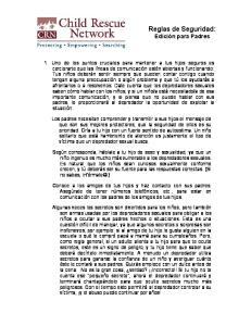 Reglas de Seguridad: Edición para Padres