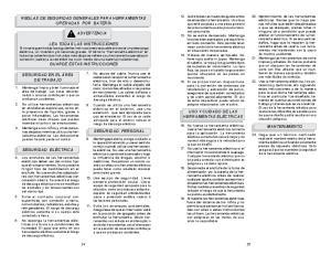 REGLAS DE SEGURIDAD GENERALES PARA HERRAMIENTAS OPERADAS POR BATERÍA ADVERTENCIA