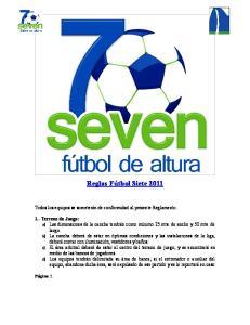 Reglas Fútbol Siete 2011