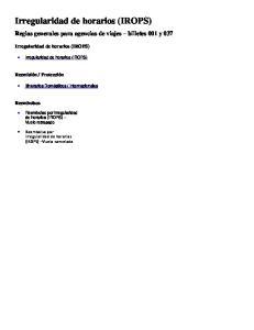 Reglas generales para agencias de viajes billetes 001 y 037