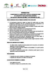 REGLAS GENERALES PARA EL PRIMER CAMPEONATO DE ANDALUCÍA