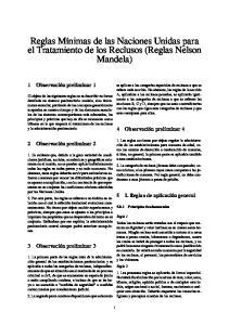 Reglas Mínimas de las Naciones Unidas para el Tratamiento de los Reclusos (Reglas Nelson Mandela)