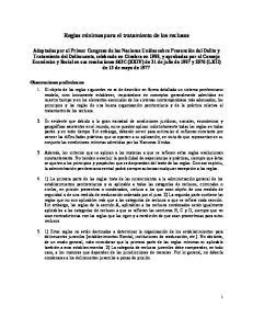 Reglas mínimas para el tratamiento de los reclusos