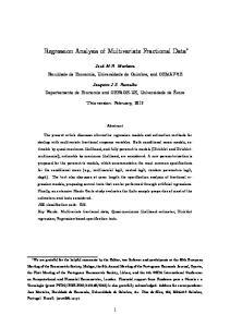 Regression Analysis of Multivariate Fractional Data
