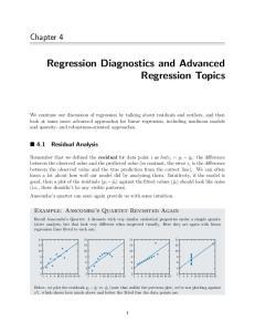 Regression Diagnostics and Advanced Regression Topics