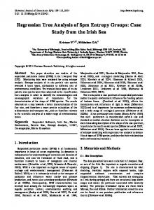 Regression Tree Analysis of Spm Entropy Groups: Case Study from the Irish Sea