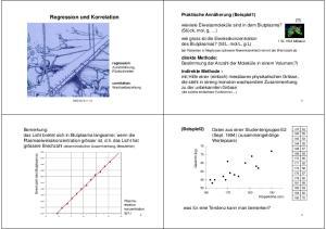 Regression und Korrelation