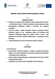 Regulamin 3 edycji Festiwalu Piosenki Europejskiej EuroSong