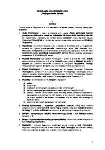 REGULAMIN AKCJI PROMOCYJNEJ Akcja partnerska Selictis. Definicje