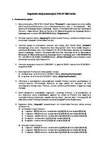 Regulamin akcji promocyjnej PKO BP Mini Ratka