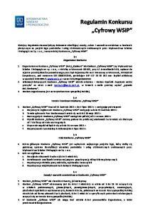 Regulamin Konkursu Cyfrowy WSiP