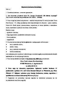 Regulamin konkursu literackiego: