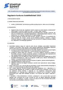 Regulamin konkursu ScaleMeGlobal! 2015