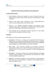 Regulamin Portalu ZapraszamNaRozmowe.pl ( Regulamin )
