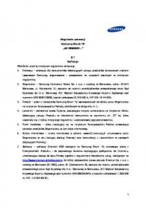 Regulamin promocji Samsung Smart TV 52 POWODY