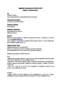 Regulamin Samsung Knox TRIATHLON IT Powidz 12 czerwca 2015 r