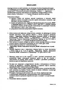 REGULAMIN. Strona 1 z 15