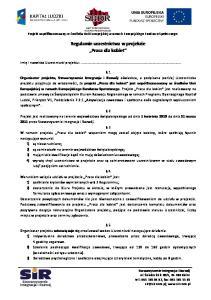 Regulamin uczestnictwa w projekcie Praca dla kobiet