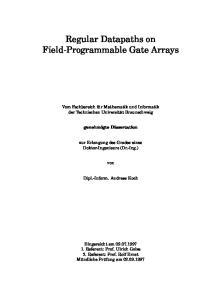 Regular Datapaths on Field-Programmable Gate Arrays
