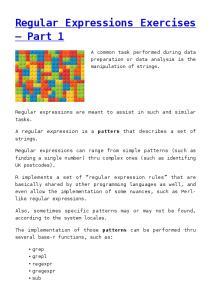 Regular Expressions Exercises Part 1
