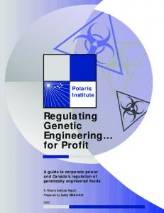 Regulating Genetic Engineering... for Profit