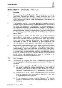 REGULATION 17. Last updated 1 January,