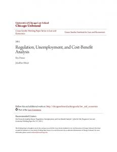 Regulation, Unemployment, and Cost-Benefit Analysis