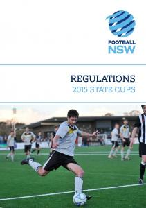 REGULATIONS 2015 STATE CUPS