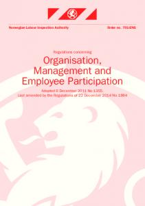 Regulations concerning Organisation, Management and Employee Participation