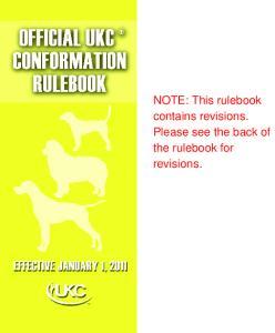 Regulations Governing UKC Licensed