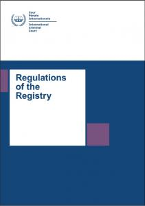 Regulations of the Registry