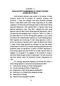 REGULATORY FRAMEWORK OF CREDIT RATING AGENCIES IN INDIA