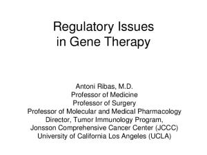 Regulatory Issues in Gene Therapy