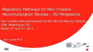 Regulatory Pathways for Non-Invasive Neuromodulation Devices EU Perspective
