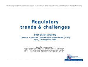 Regulatory trends & challenges