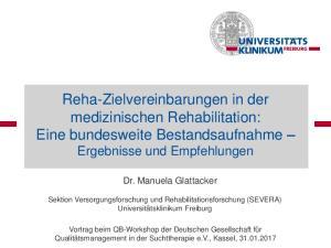 Reha-Zielvereinbarungen in der medizinischen Rehabilitation: Eine bundesweite Bestandsaufnahme Ergebnisse und Empfehlungen