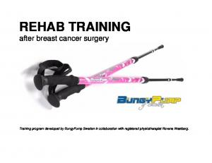 REHAB TRAINING after breast cancer surgery