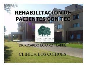REHABILITACION DE PACIENTES CON TEC