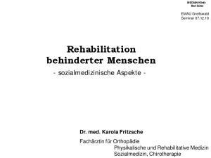 Rehabilitation behinderter Menschen