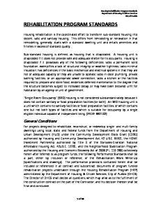 REHABILITATION PROGRAM STANDARDS