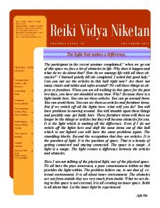Reiki Vidya Niketan. The light that makes a difference