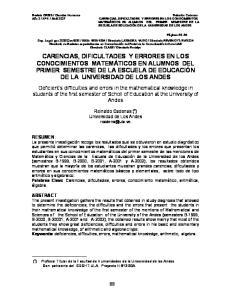Reinaldo Cadenas ( ) Universidad de Los Andes